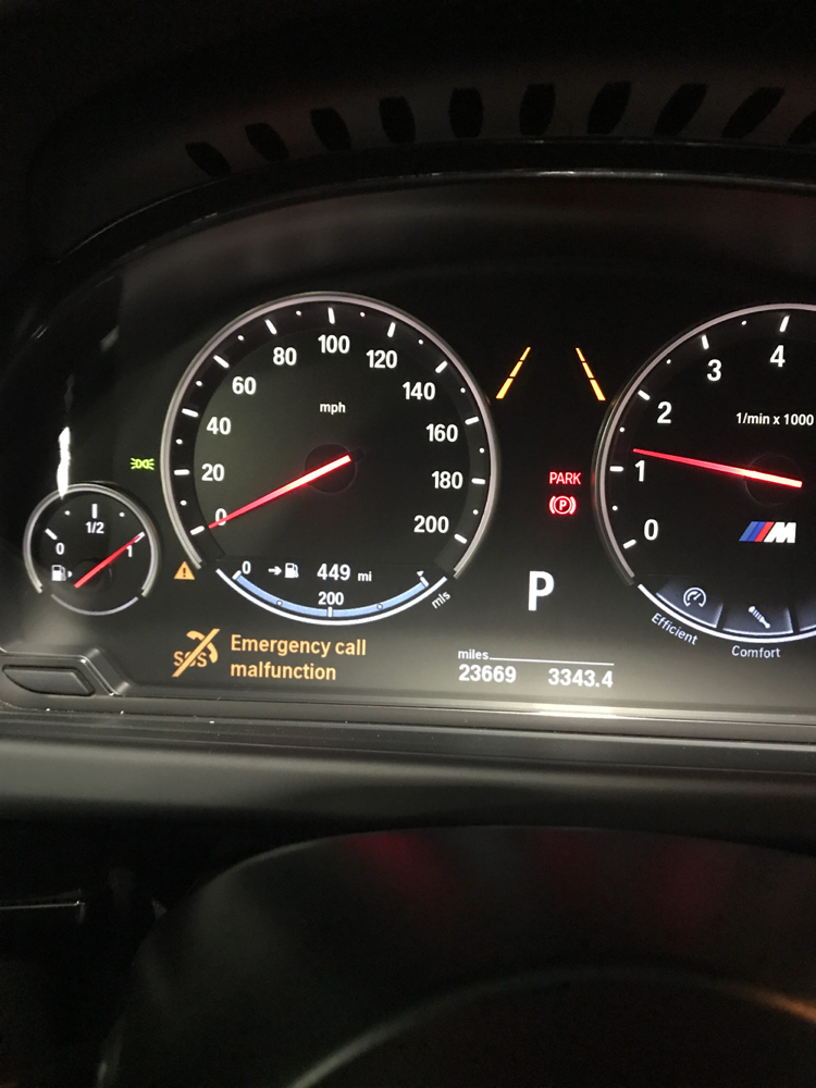 SOS call malfunction message - 6Post com | BMW 6-Series Forum