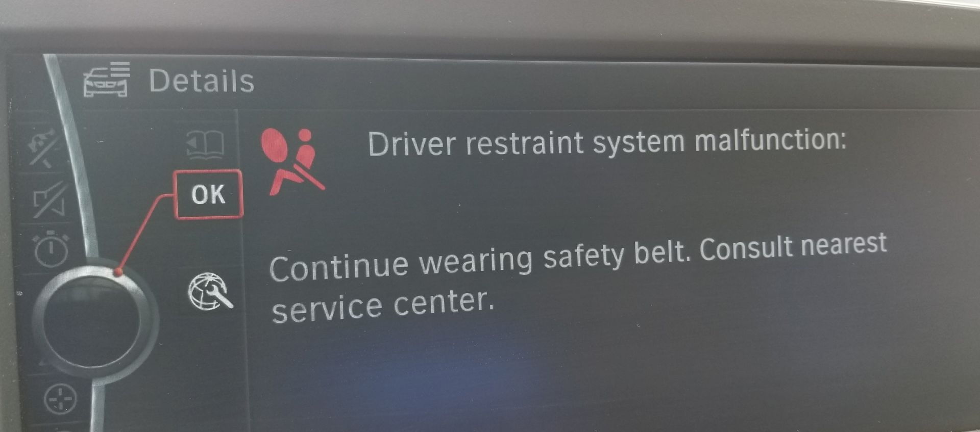 Driver Restraint System Malfunction - 6Post com | BMW 6