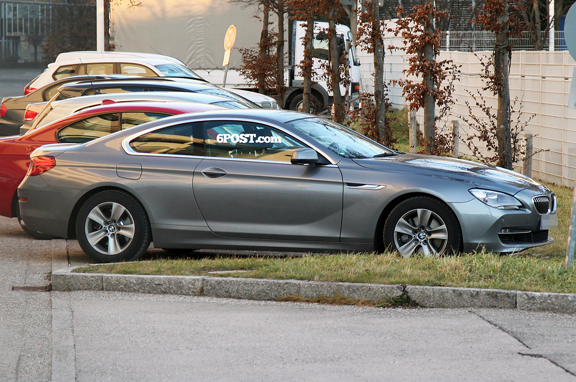 first photos of the new 2012 bmw 6 series coupe 100 uncovered. Black Bedroom Furniture Sets. Home Design Ideas