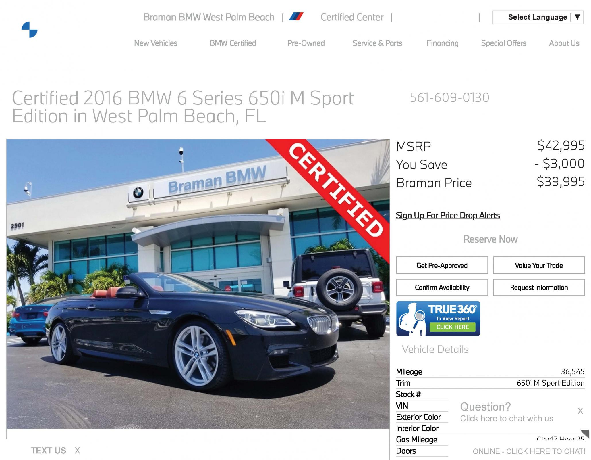 Name:  Pre-Owned Certified One-Owner 2016 BMW 6 Series 650i M Sport Edition in West Palm Beach, FL - Br.jpg Views: 474 Size:  298.0 KB